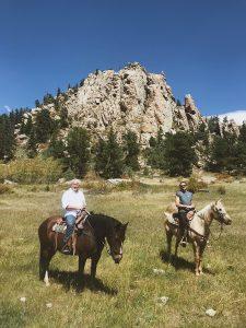 Horseback riding at Sundance Trail Guest Ranch
