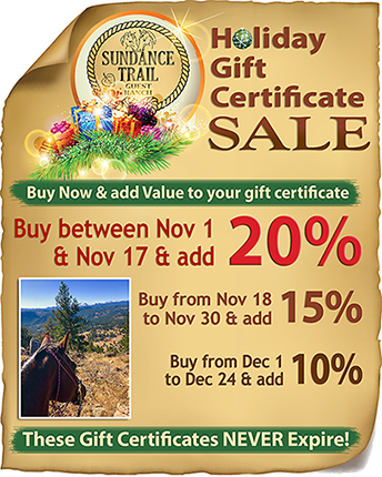 Dude ranch gift certificate special for 2020