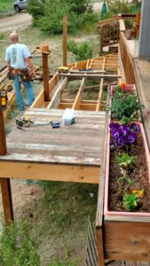 Building the handicapped mounting ramp