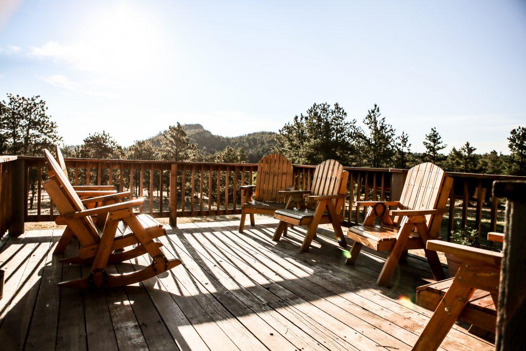 The main lodge deck