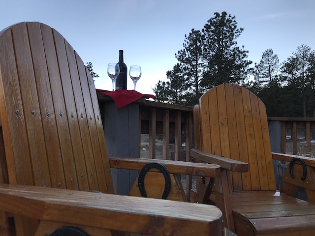 The porch is a great place to relax