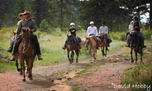Riders Headin' back to the Guest Ranch