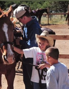 Kids meet their horses for the week