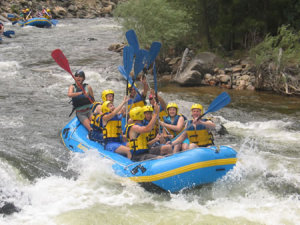 Summer Vacation at our Guest Ranch can include white water rafting