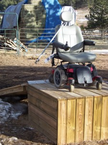 Wheel Chair Ramp to Your Horse